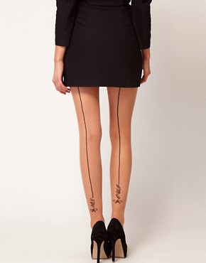 Image 1 ofASOS Oui Non Back Seam Tights