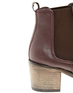 Image 2 ofASOS ALBUM Leather Chelsea Ankle Boots