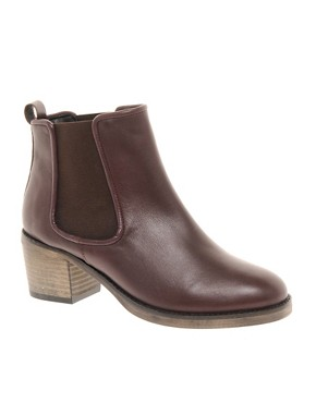 Image 1 ofASOS ALBUM Leather Chelsea Ankle Boots