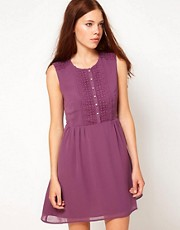 Darling Dress With Lace Trim