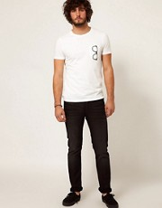 ASOS T-Shirt With Printed Glasses Pocket