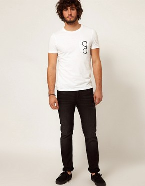 Image 1 ofASOS T-Shirt With Printed Glasses Pocket