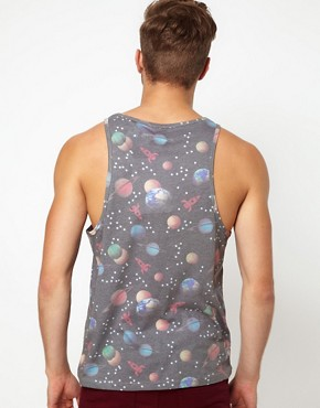 Image 2 of ASOS Vest With All Over Space Print