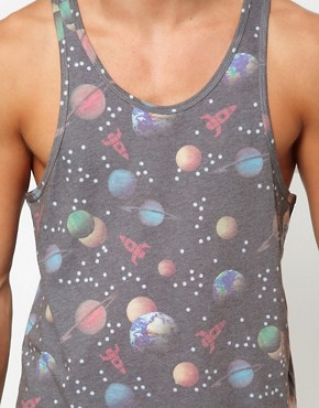Image 3 of ASOS Vest With All Over Space Print