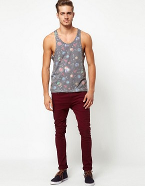 Image 4 of ASOS Vest With All Over Space Print
