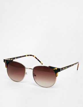 ASOS Metal Corner Detail Retro Sunglasses