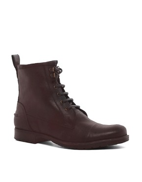 Image 1 ofASOS Workboots in Leather