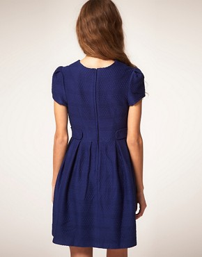Image 2 ofASOS Fit and Flare Dress in Texture