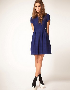 Image 4 ofASOS Fit and Flare Dress in Texture