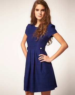 Image 1 ofASOS Fit and Flare Dress in Texture