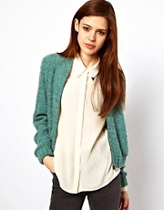 ASOS Bomber Jacket In Boucle