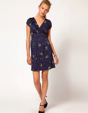 Image 4 ofA Wear Vintage Floral Wrap Dress