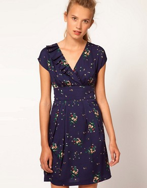 Image 1 ofA Wear Vintage Floral Wrap Dress