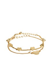 ASOS Two Pack Heart Bracelets