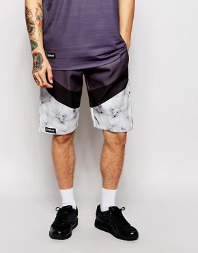Ichiban Neoprene Shorts With Marble Panel