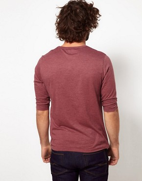 Image 2 ofASOS 3/4 Sleeve T-Shirt With Aztec Pocket