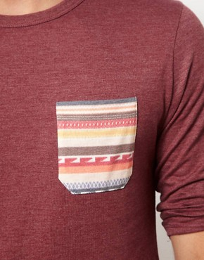Image 3 ofASOS 3/4 Sleeve T-Shirt With Aztec Pocket