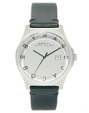 Marc By Marc Jacobs Watch Henry Black Leather Strap MBM1214