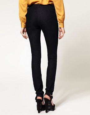 Image 2 of ASOS Indigo Matelot Jeggings