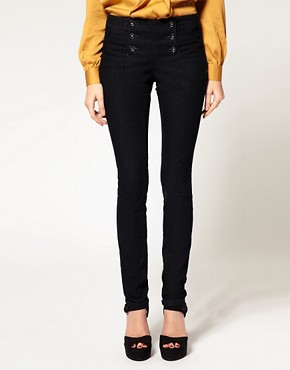 Image 1 of ASOS Indigo Matelot Jeggings
