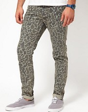 ASOS Skinny Jeans In Camo Print