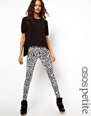 ASOS PETITE Exclusive Legging In Mono Print