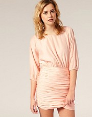 Arrogant Cat Tulip Ruched Dress