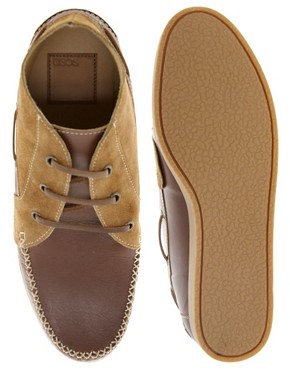 Image 3 ofASOS Chukka Boots in Suede and Leather
