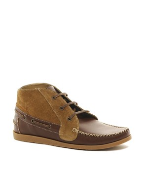Image 1 ofASOS Chukka Boots in Suede and Leather