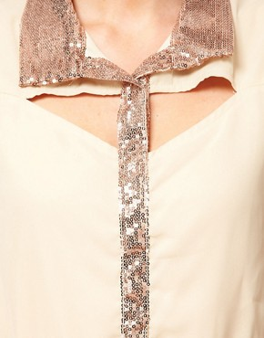 Image 3 ofLove Sequin Trim Shirt Dress