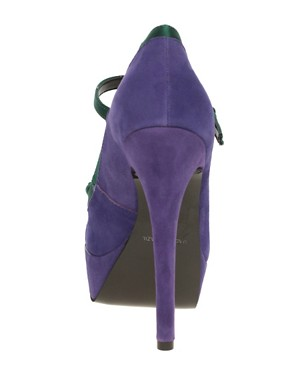Image 2 ofKG Bella Bow Front Platform Strap Court Shoes