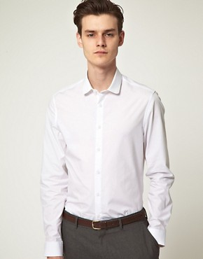 Image 1 ofASOS Smart Round Collar Shirt