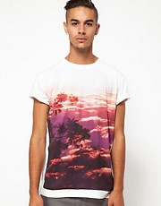 55DSL T-Shirt T-Shade Palm Print Front And Back