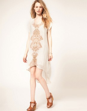 Image 4 of Free People Ethnic Diamond Print Hi Lo Dress