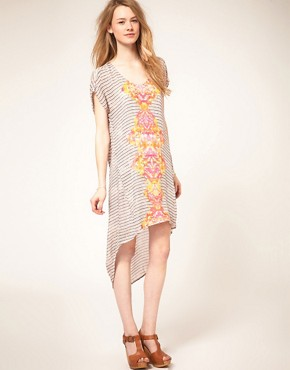 Image 1 of Free People Ethnic Diamond Print Hi Lo Dress