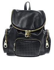 ASOS Backpack Bag With Zips And Punchout Detail
