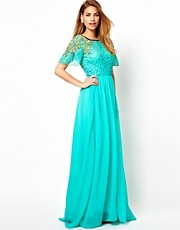 Virgos Lounge Raina Embellished Shoulder Maxi Dress