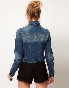 Image 2 ofASOS Western Denim Jacket in Vintage Wash