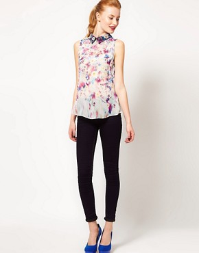 Image 4 ofWarehouse Floral Print Blouse