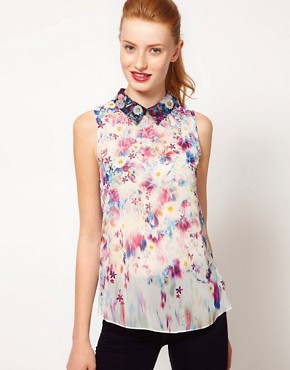 Image 1 ofWarehouse Floral Print Blouse