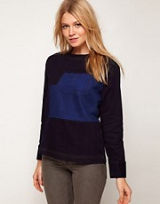 ASOS Colour Blocked Denim Sweat Top