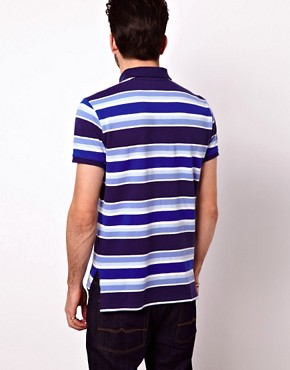 Image 2 of Polo Ralph Lauren Polo Shirt In Custom Fit With Bold Stripe