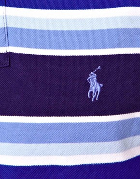 Image 3 of Polo Ralph Lauren Polo Shirt In Custom Fit With Bold Stripe