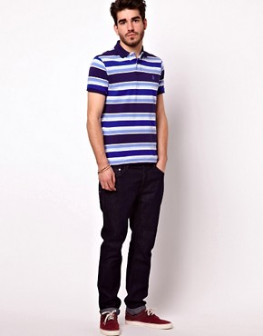 Image 4 of Polo Ralph Lauren Polo Shirt In Custom Fit With Bold Stripe