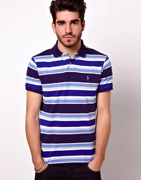 Image 1 of Polo Ralph Lauren Polo Shirt In Custom Fit With Bold Stripe