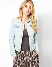 Mango Bleach Wash Denim Jacket