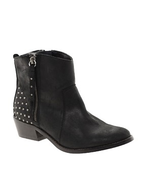 Image 1 ofRiver Island Zip and Stud Ankle Boots