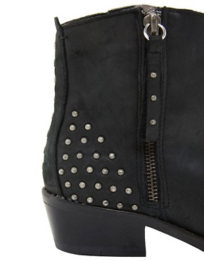 Image 2 ofRiver Island Zip and Stud Ankle Boots