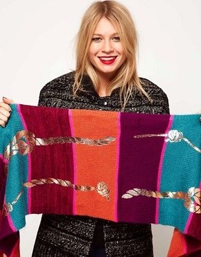 Image 3 ofLauren McCalmont For ASOS Rope Foil Print Scarf