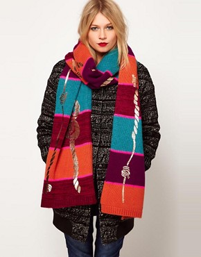 Image 1 ofLauren McCalmont For ASOS Rope Foil Print Scarf